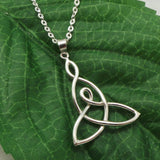Silver Celtic Mother Child Knot Necklace
