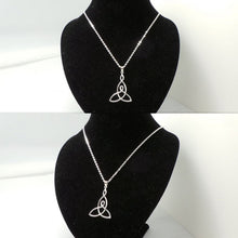 Load image into Gallery viewer, Silver Celtic Mother Child Knot Necklace