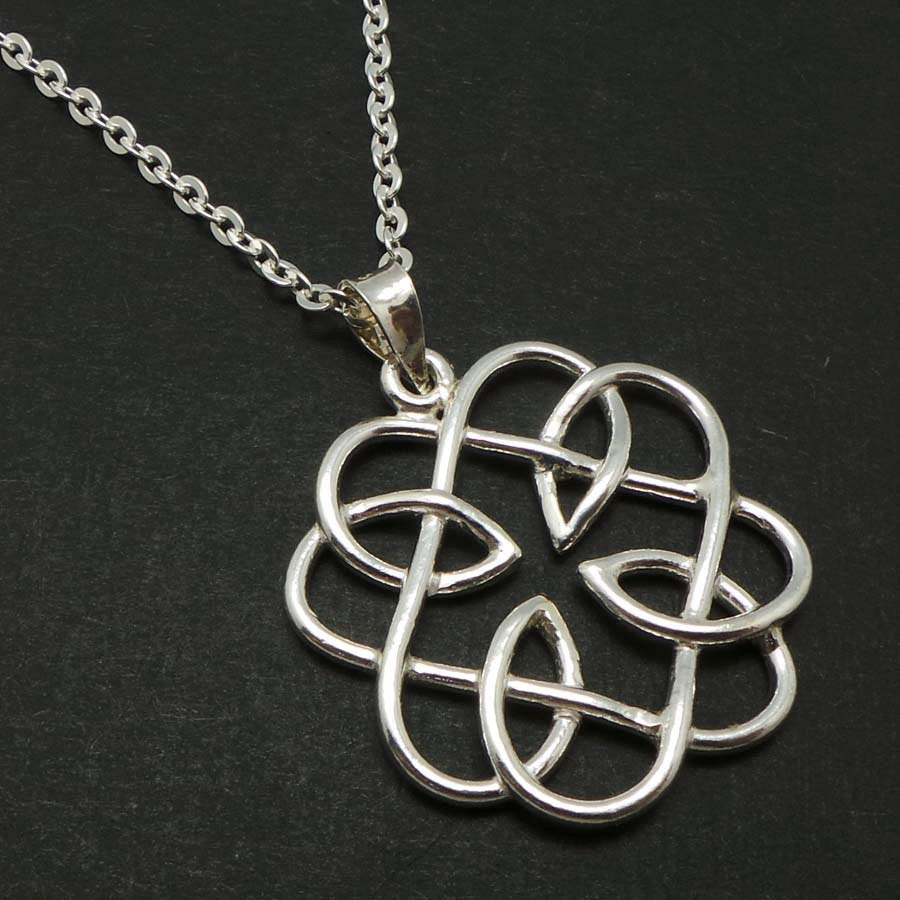 Celtic Father and Daugther Knot Necklace