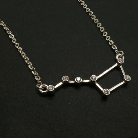 Silver Big Dipper Ursa Major Constellation Necklace