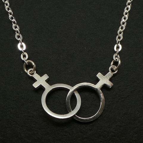 Silver Female Lesbian Necklace