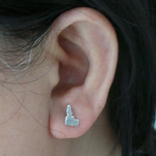 Load image into Gallery viewer, Silver Idaho State Pride Stud Earring