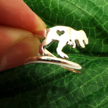 Load image into Gallery viewer, Silver Tyrannosaurus Dinosaur Ring