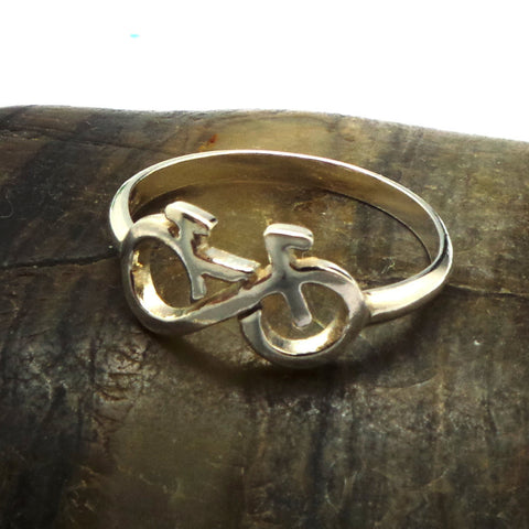 Silver Infinity Bicycle Ring