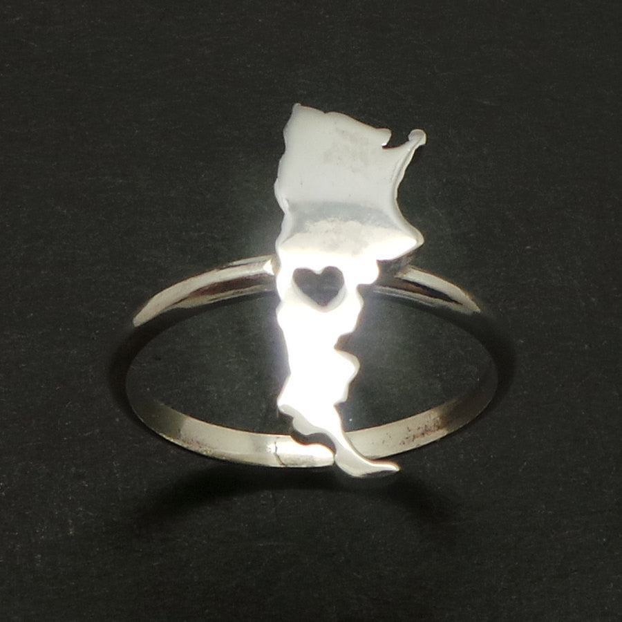 Silver Argentina Heart Ring