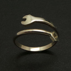 Silver Spanner and Nut Ring