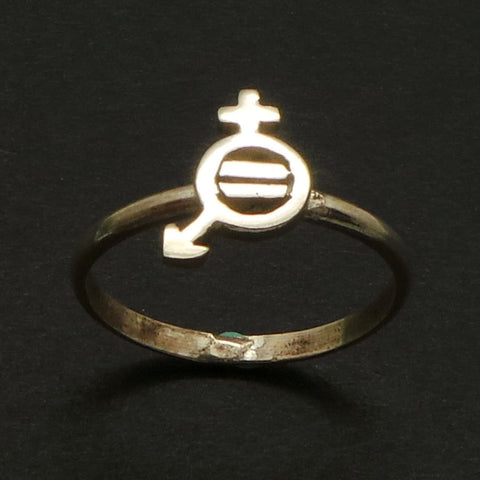 Silver Women Equality Ring