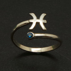 Zodiac Astrology Pisces Ring