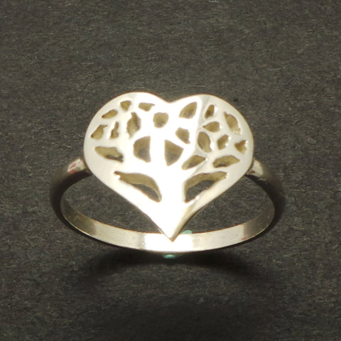 Heart Tree of Life Ring