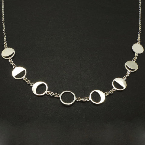 Moon Phases Necklace Choker