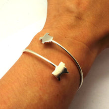 Load image into Gallery viewer, Texas Minnesota 2 States Bangle Bracelet