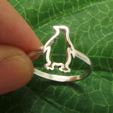 925 Silver Penguin Ring