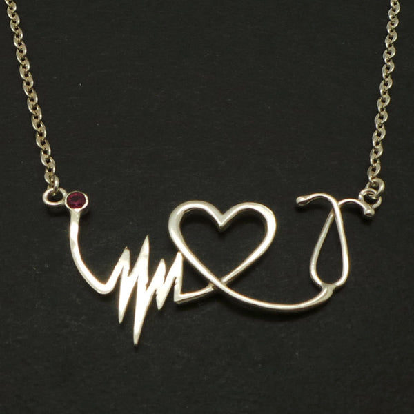 Nurse HeartBeat Stethoscope Necklace