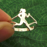 Silver Women Running Ring