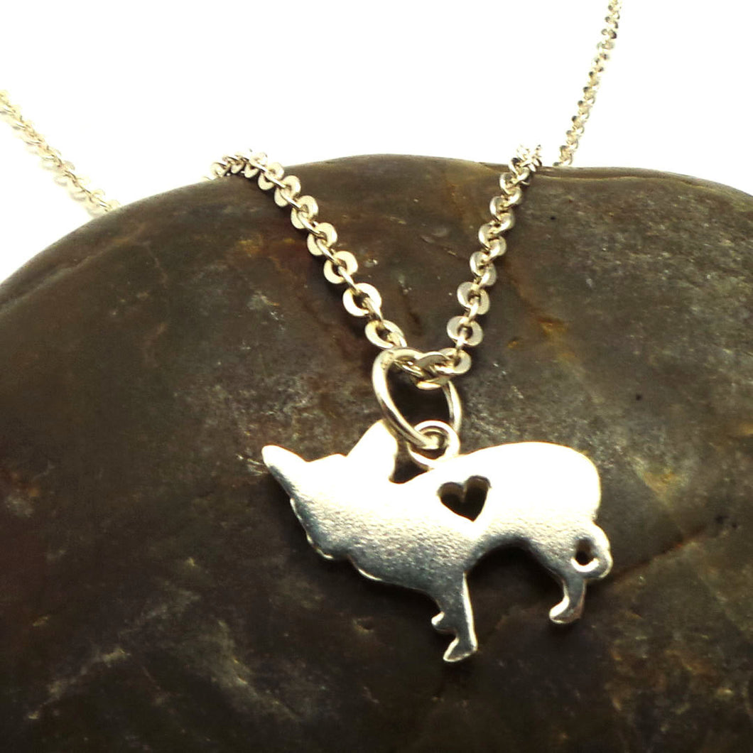 Silver Dog Chihuahua Pendant Necklace