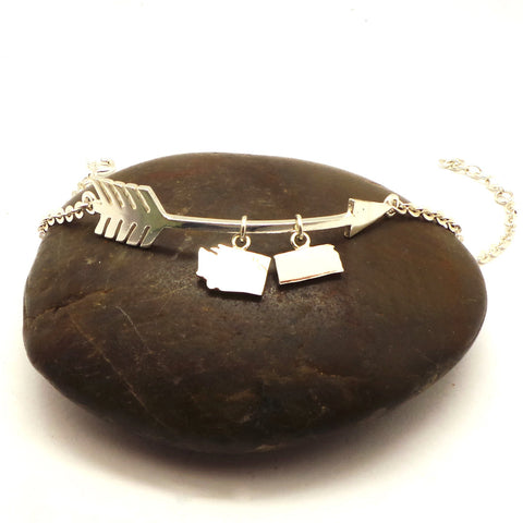 Arrow Washington To Kansas Bracelet