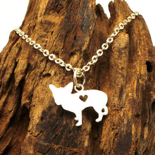 Load image into Gallery viewer, Silver Dog Chihuahua Pendant Necklace