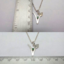 Load image into Gallery viewer, Silver Vegan Symbol Necklace