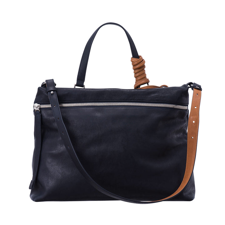 Epiphany- Citygirl Navy + Orange Tan