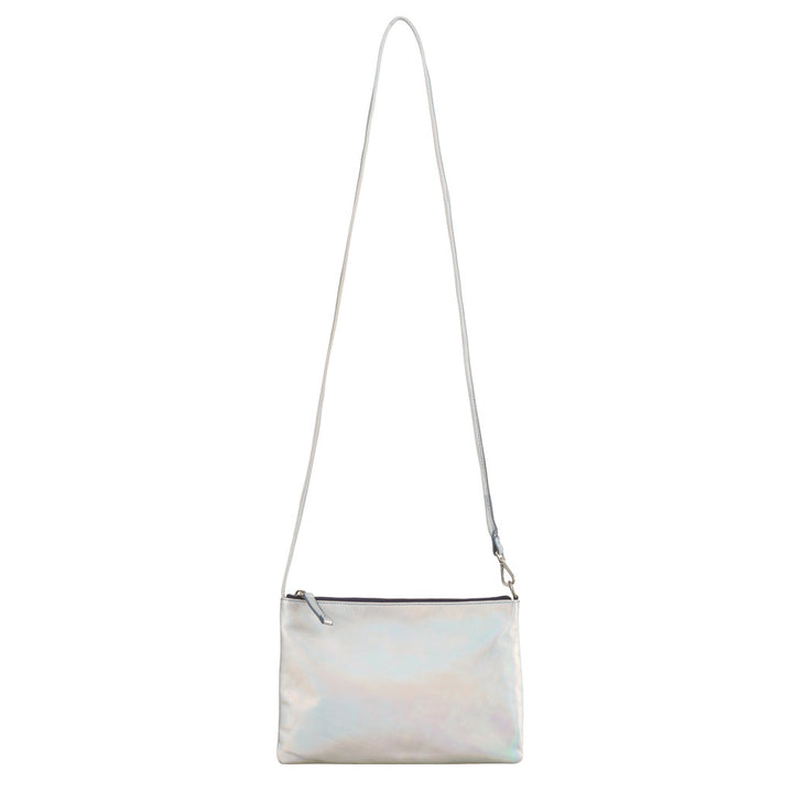 Epiphany Petite Crossbag/Pouch- Rainy Silver