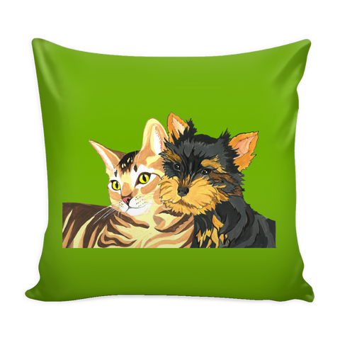 Pillow Cover with Custom Pet Artwork
