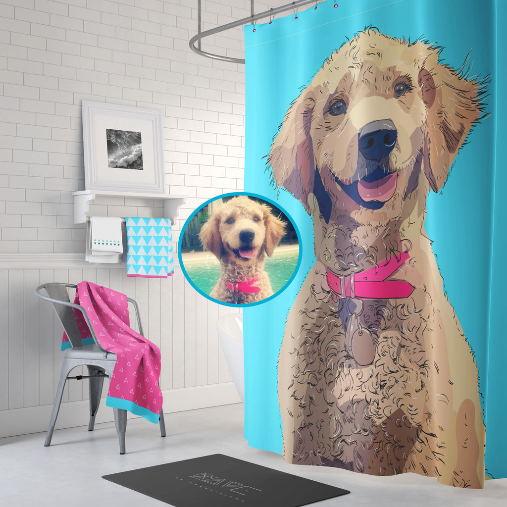 Your Pet on a Shower Curtain