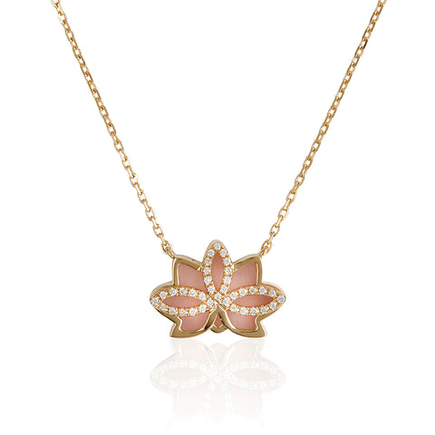 "Nelumbo Rose ""Mini"" Necklace"
