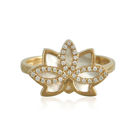 Nelumbo Shell Ring