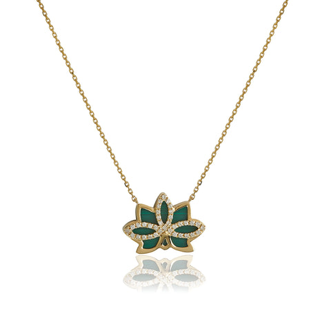 "Nelumbo Malachite ""Mini"" Necklace"