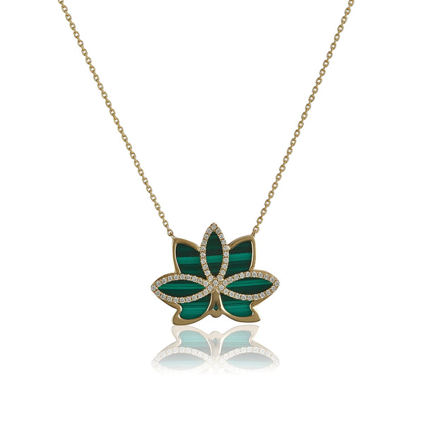 Nelumbo Malachite Necklace