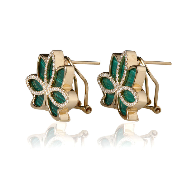 Nelumbo Malachite Earrings