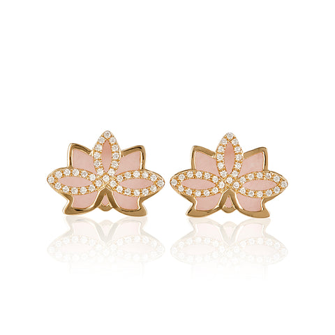 "Nelumbo Rose ""Mini"" Earrings"