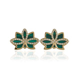 "Nelumbo Malachite ""Mini"" Earrings"