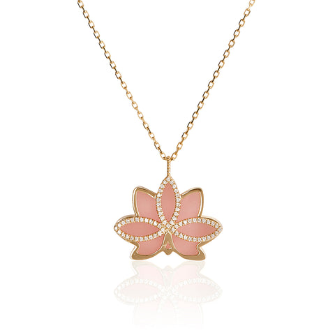 "Nelumbo ""LONG"" Rose Necklace."