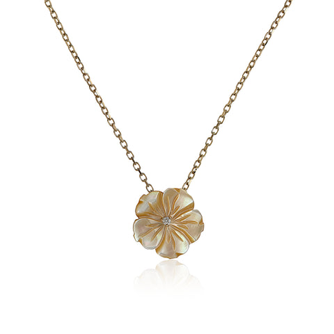 Hazel Shell Flower Necklace