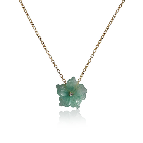 Aventurine Flower Necklace