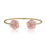 Pink Double Flower Bangle