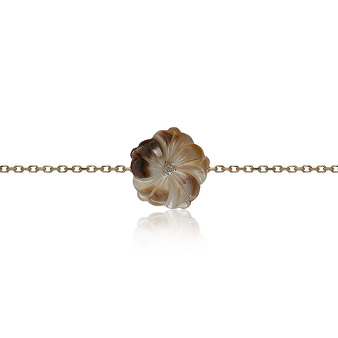 Gray Shell Flower Bracelet