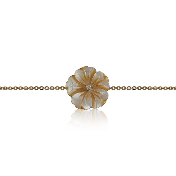Yellow Shell Flower Bracelet