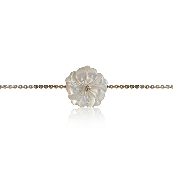 White Shell Flower Bracelet