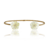 Hazel Double Flower Bangle