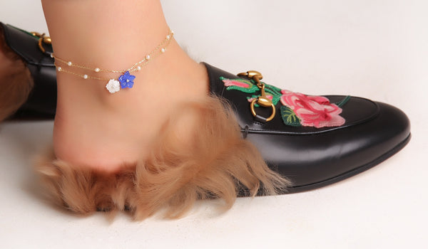 Blue Cat eye Anklet