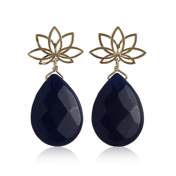 Nelumbo Blue Drop Earring