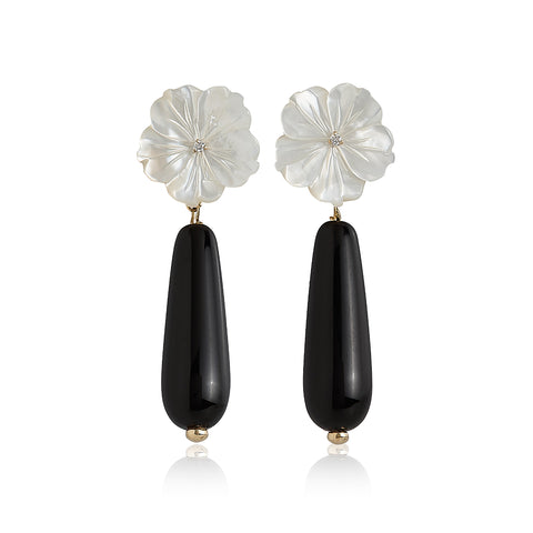 Shell Flower Drop Earrings
