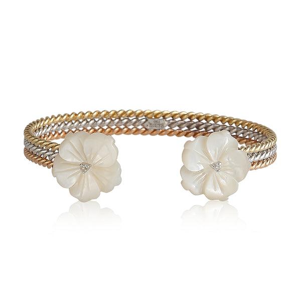 3 Layers Double Flower Bangle