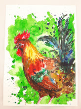 cockerel,rooster,colourful,illustration