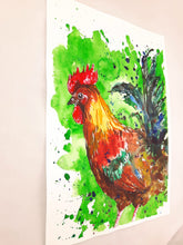 rooster,cockerel,bird,illustration,colourful
