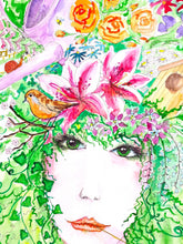 "Original artwork ""Garden Queen"" - Marily's Art Nest"