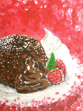 "Original painting ""Chocolate lava cake"""