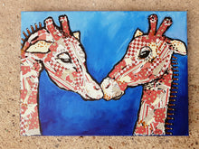 "Original mixed media painting ""LUV"" - Marily's Art Nest"